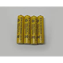 AAA Ni-Cd 600mAh Yellow Rechargable Batteries Perfect for Solar Powered Units (12-Pack)
