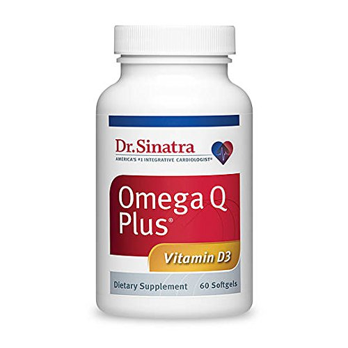 Dr. Sinatra's Omega Q Plus with Vitamin D3 - Heart Health Supplement for Strengthening Bones and Boosting Immune Health, 60 softgels (30-day (Coq10 Plus Vitamin)
