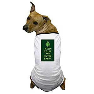 CafePress – Keep Calm and Home Brew Dog T-Shirt – Dog T-Shirt, Pet Clothing, Funny Dog Costume