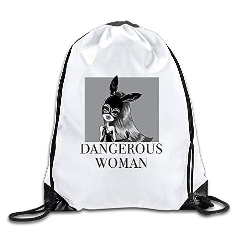 JADR Custom Ariana Singer Grande Cute Cartoon Poster Large Capacity Peregrinator Bag White (Aris Speaker)