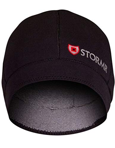 - Stormr Typhoon Men's and Women's Waterproof, Windproof 2 MM Premium Micro-Fleece Lined Neoprene Beanie Ideal for Fishing, Hunting, Winter, Skiing - Black, S