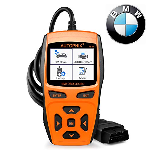 Auto Battery Bmw - Scan Tool Automotive Scanner for BMW,AUTOPHIX 7810 Code Reader OBD2 Scanner/All System Car Diagnostic Scanner with Engine/EPB/SAS/EGS/DME/DDE/CBS/ECU/F Chassis Reset BMW Battery Registration Tool