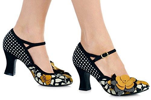 Ruby Shoo Dee Black Womens Bar Hi Heels Shoes