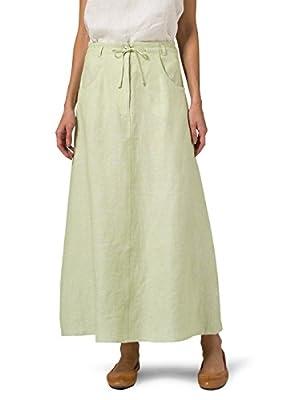 Vivid Linen High Rise Long Skirt