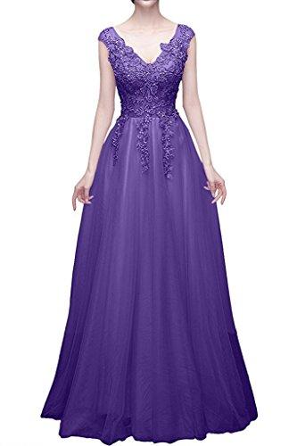 Linie Brautmutterkleider mit A Marie Prinzess Braut Lila Abendkleider Rot La Lang Promkleider Spitze Glamour vXP0qqH