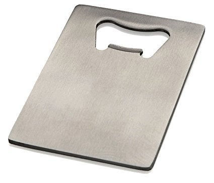 CJESLNA Credit Card Bottle Opener for Your Wallet - Stainless -