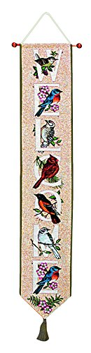 Birds Bell Pull - Manual Woodworkers & Weavers Tapestry Bell Pull, Bird Watchers Alphabet