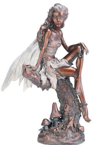 Napco Bronze Fairy Figure Garden Statue, 13 Inch Tall