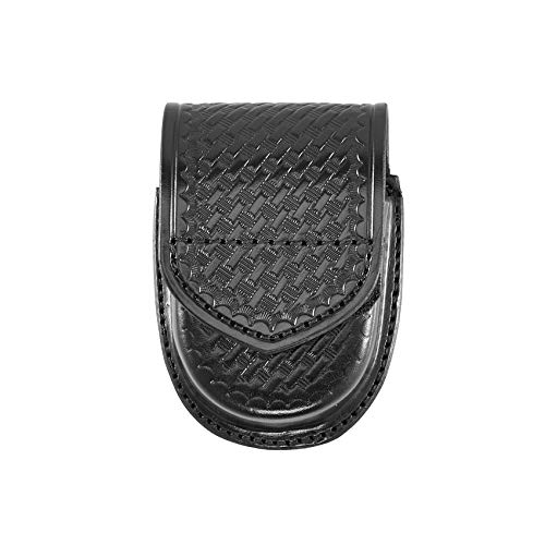 Aker Leather Products Double Handcuff Case 500D Double Handcuff Case, Basketweave, Velcro, Black