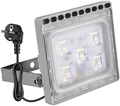 30W Focos LED Exterior, Ultra Delgado LED Proyector con Conector ...