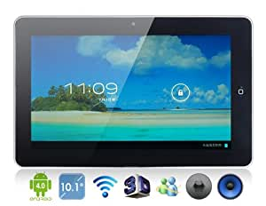 """10.1"""" Android 4.0.4 A10 1.2 GHz External 3G Tablet PC with 4GB Hard Drive, Wi-Fi, 1080P Video Playback, GPS, 3-Point Resistive TFT Touch Screen"""