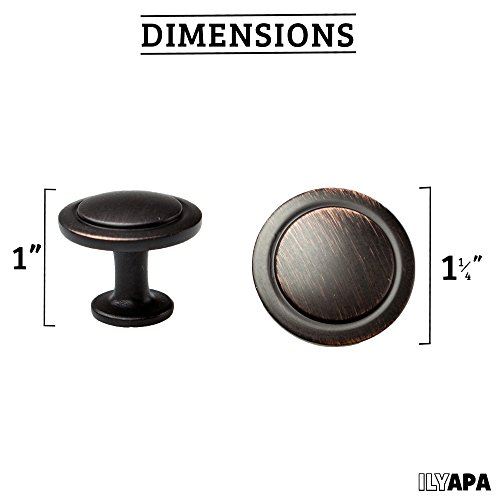 Oil Rubbed Bronze Kitchen Cabinet Knobs - 1 1/4 Inch Round Drawer Handles -  sc 1 st  AU-SAFGRAD Web site & Oil Rubbed Bronze Kitchen Cabinet Knobs - 1 1/4 Inch Round Drawer ...