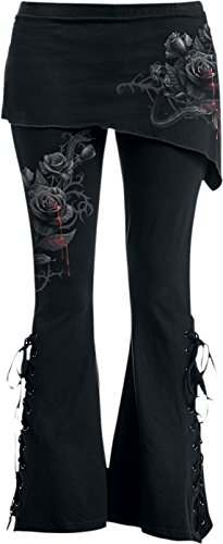 Spiral Womens - Fatal Attraction - 2in1 Boot-Cut Leggings With Micro Slant Skirt - (Gothic Boots For Women)