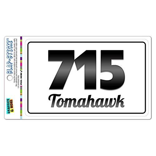 area-code-bw-window-laminated-sticker-715-wisconsin-wi-radisson-waupaca-tomahawk