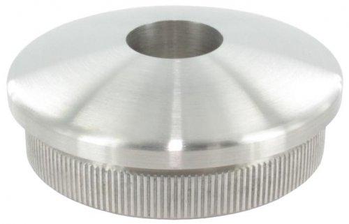 Endkappe leicht gewölbt mit ø 12,1mm Bohrung, massiv, für Rohr ø 42,4 x 2,6mm, zum Einschlagen für Rohr ø 42 edelstahlonline24