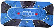 Almencla Rubber Poker Table Layout Tabletop Mat Casino Craps 10 Players Layouts Mat
