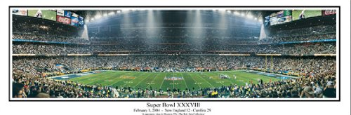 (New England Patriots defeat Carolina Panthers in Super Bowl XXXVIII in Houston Panoramic Poster #1022)