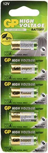 Mercury Battery Replacement - A23 12V Alkaline 23-A Replacement Battery 23AE GP - 5 Pack