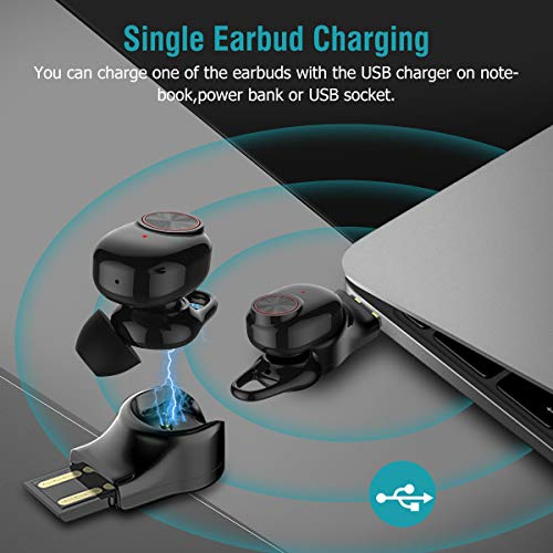 Wireless Bluetooth Earbuds,Arbily Bluetooth Earphones with Charging Case IPX6 Waterproof Air Buds Cordless Earbuds Noise Canceling Workout Sports Earphones for Running