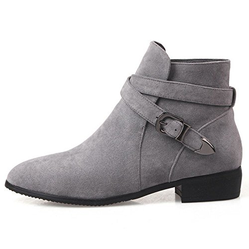 Gray Boots Women's Ankle Flat Coolcept Fashion xBXFwURU