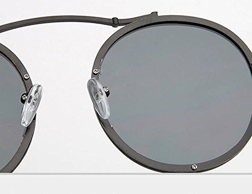 en Retro cadre lunettes Polarized Rose soleil Or Keephen de Round métal Steampunk Frame classique 1wd88zqCx