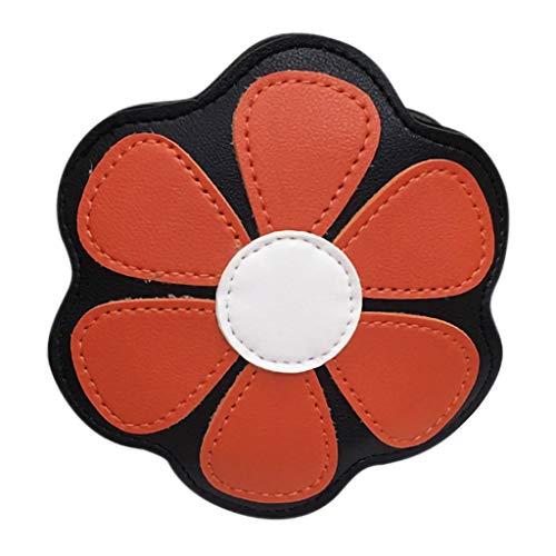 Fashion Children Lovely Flower Girls Shoulder Bag Messenger Bag Clutch Coin Bag (Orange)