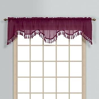 Amazon Com United Curtain Monte Carlo Valance 59 X 18