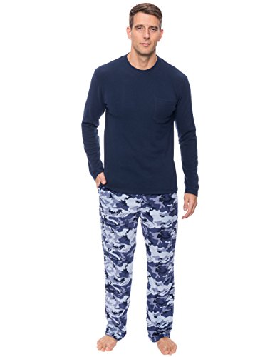 Noble Mount Mens Microfleece Lounge Set - [Camo] - Large