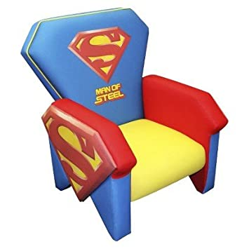 Magical Harmony Kids Icon Chair   Superman   Cool Colors And Logo   Kids  Chair