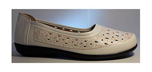 Para nbsp;– Mok106 Mujer Zapatos O Zapatos Un De Super nbsp;zapatos Aspecto Marrón En Emplearse Slippers Blanco Mujer Cómodo Negro Zapato Moderna Indios I1aUn