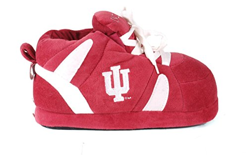 NCAA Happy Sneaker Feet Indiana LICENSED Men's College and OFFICIALLY Slippers Hoosiers Womens ZYqCrwZ