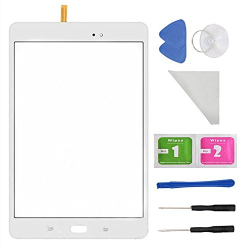 White Touch Screen Glass Digitizer for Samsung Galaxy Tab A 8.0 SM-T350 T350 (Not Include LCD) + PreInstalled Adhesive with Tools with Tool