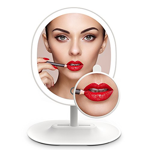 MiroPure 5x Magnifying 16 LED Vanity Makeup Mirror with Touch-control Light Panel