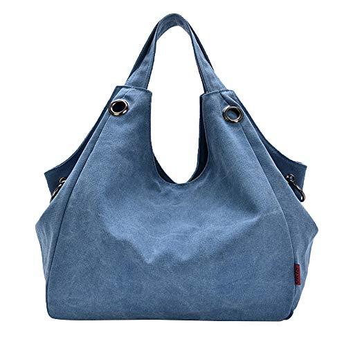 La à Sac tout Titulaire Canvas Mode Fourre PANGOIE,Femmes Bandoulière De Main Toile Sac Bags à Hobo Blue qXHn5xPwR