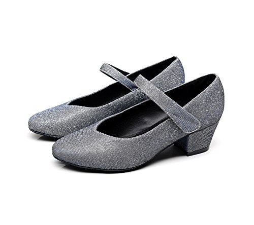 Tango Sandals 5 EU32 Salsa Modern De B Samba Jazz Zapatos Latino JSHOE Heelsdiy Dance heeled4cm Para Mujer UK2 Baile High Our33 Chacha O0wn4