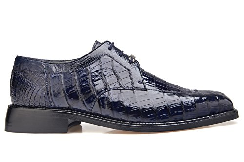 Belvedere Men's Susa Exotic Shoes,Navy Crocodile,8.5 M US