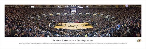 Purdue Boilermakers Framed (Purdue Basketball - Black Out - Blakeway Panoramas Unframed College Sports Posters)
