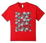 Kids Gray spots Polka dot t-shirt 6 Red