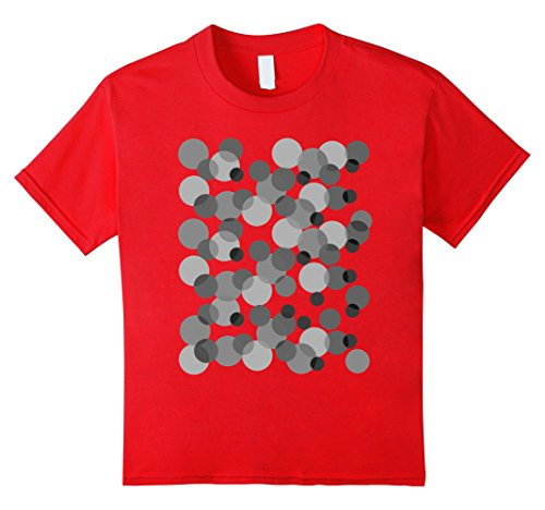 Kids Gray spots Polka dot t-shirt 6 Red by Abstract design Studio