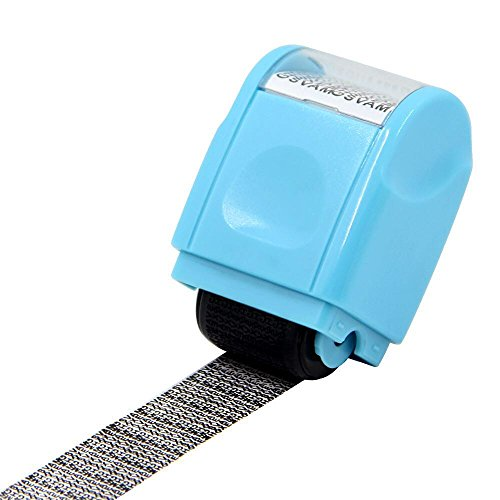 Identity Protection Roller Stamp Lionergy Wide Roller Identity Theft Prevention Security Stamp (Ink Roller Kit)