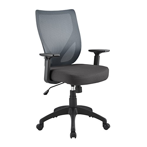 Serta Works Ergonomic Mesh Office Chair with Nylon Base, Gray
