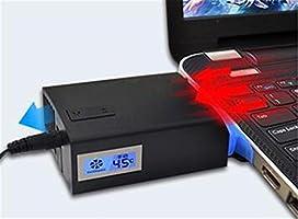 STEAM PANDA Vacío Ventilador Ordenador Portátil Ventilador para Refrigeración Auto-Temp Detección LED gráfico USB Aire Caliente Extractor Temperatura ...