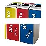 FGVBC-Cubo-de-Basura-contenedor-de-Basura-de-Acero-Inoxidable-Cubo-de-Basura-Cuadrado-de-3-contenedores-con-Etiqueta-y-Cubos-Interiores-para-Uso-Comercial-y-Exterior