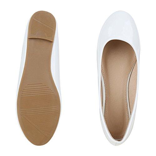 napoli-fashion - Ballerine Donna, bianco (bianco), 38