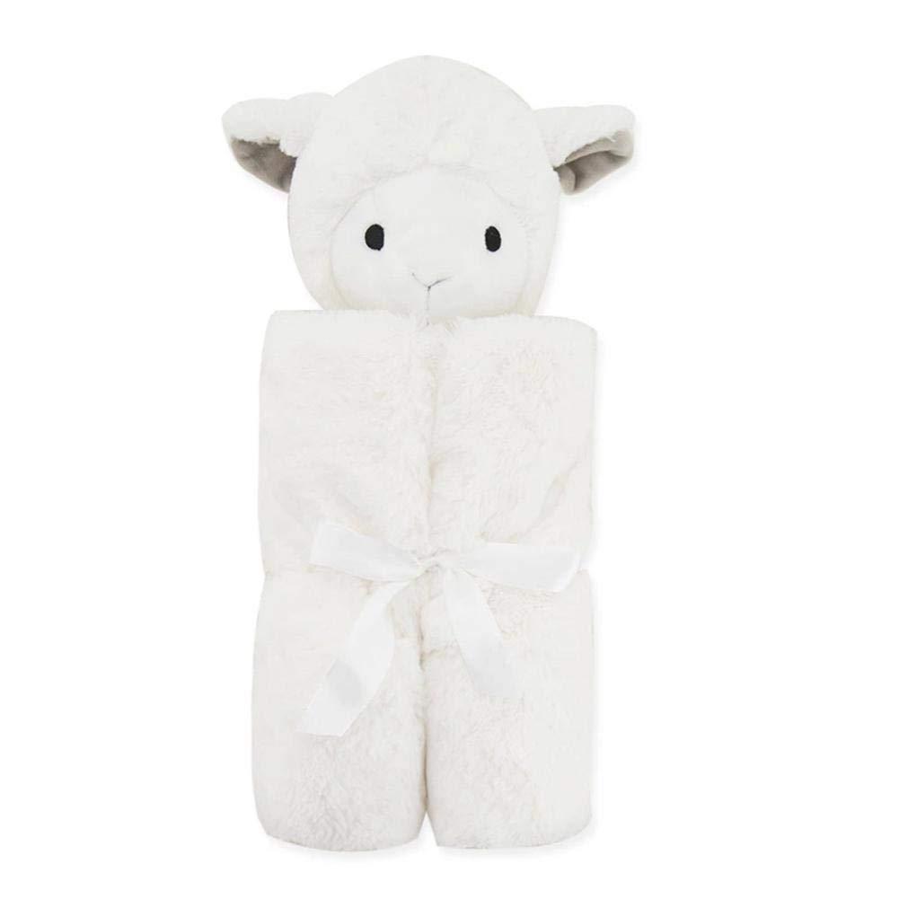 Allowevt 76x76cm Manta para beb/é Manta de lana para ni/ños Saco de dormir para ni/ños Doble capa Cabeza de terciopelo artificial Art/ículos para ni/ños Saco de dormir para ni/ños calm