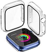 Yoarmyt for Apple watch ケース,アップルウォッチ ケース 日本旭硝子画面カバー PCフレーム 傷防止 耐衝撃 超軽量 光apple watch フィルム apple watch series 6/SE/5/4対応