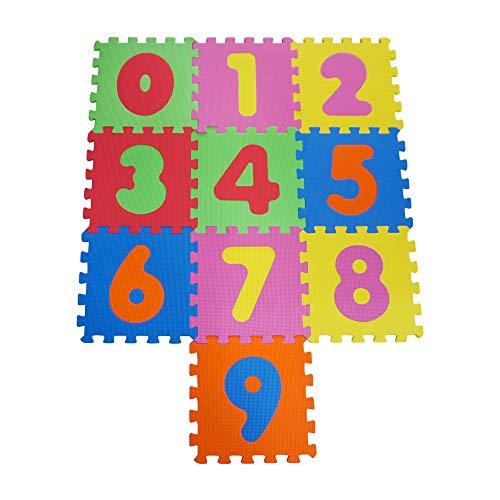 Knorrtoys 21001 Puzzelmat, 10-delig, speelmat voor kinderen, speelkleed, schuimrubberen mat, kleurrijk