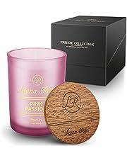 Luana Rose Geurkaars cadeauset - 100% soja wax kaars voor aromatherapie - lange brandduur 50 uur - geschenk kaars houten deksel - kaarsen in glas - Candle Light sojawas