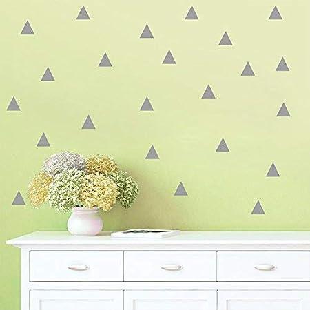Kicode Bricolaje Pegatina de pared Punto Tri/ángulo Decalques extra/íbles Inicio Decoraci/ón de la sala de estar Kids Room PVC Five Stars