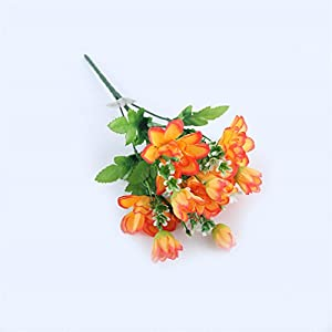 10 Head Pink Colorful Diy Silk Daisy Artificial Flower Fake Chrysanthemum Flowers For Wedding Home Party Decoration Orange 7